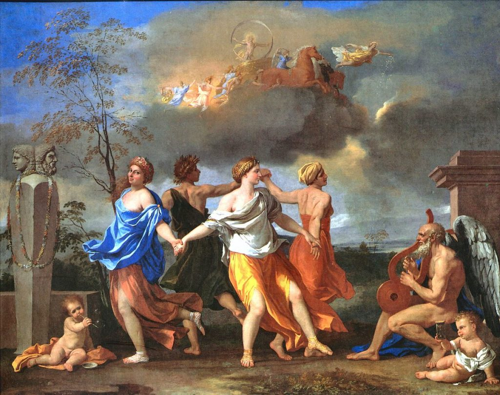 future uncertain, poussin, a dance to the music of time