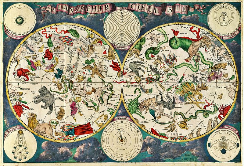 A celestial map, 1670