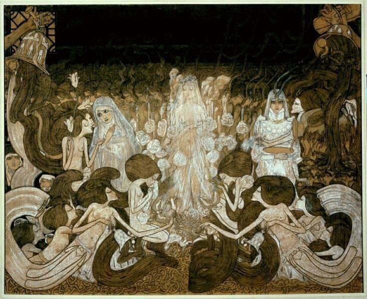 Jan Toorop, 1893, The Three Brides.
