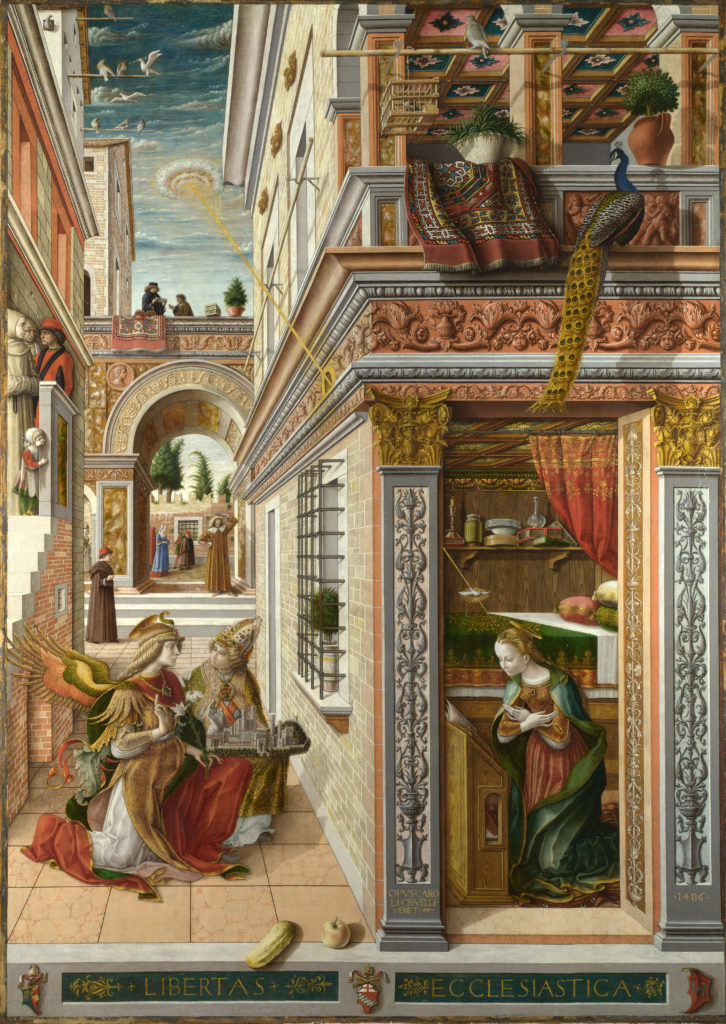 Carlo Crivelli, 1486, 'The Annunciation, with Saint Emidius'