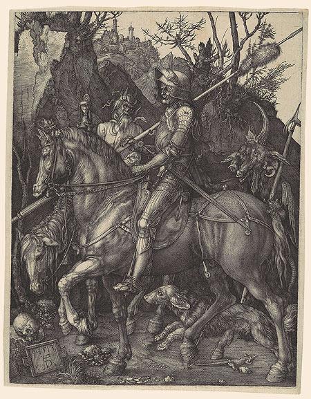 Albrecht Dürer,Knight, Death and the Devil, 1513
