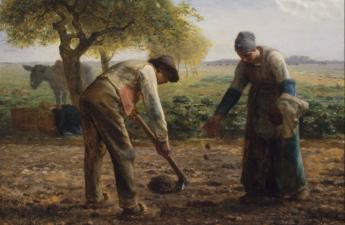 Jean-François Millet, Potato Planters, 1861