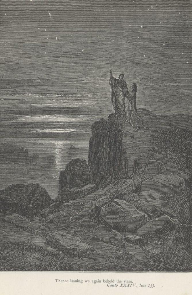 Gustave Dore, 1855-1861, Dante's The Divine Comedy-Inferno, Canto XXXIV