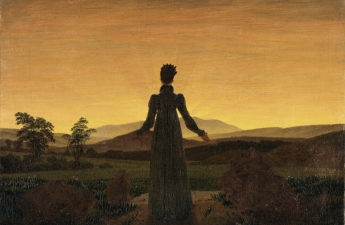 Caspar David Friedrich, 1818, Woman in the Sunset