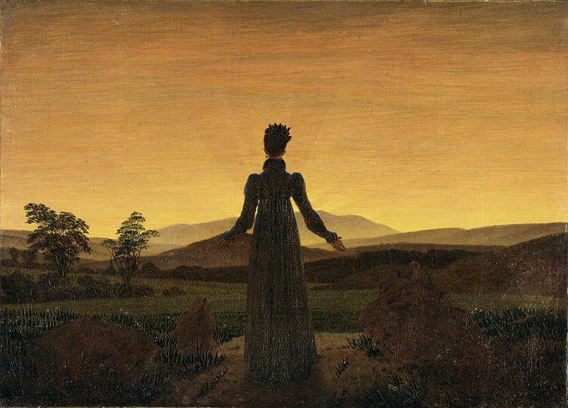 Caspar David Friedrich, 1818, Woman in the Sunset