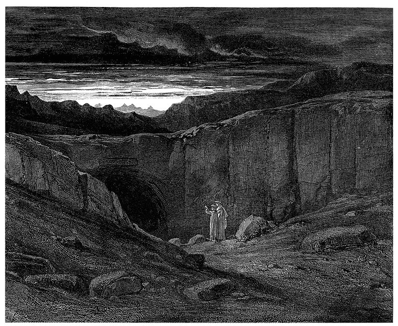 Gustave Doré, 1857, The Gate of Hell, Dante's The Divine Comedy-Inferno, Canto III