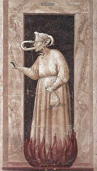Giotto di Bondone, 1306, No. 48 The Seven Vices: Envy, Scrovegni Chapel