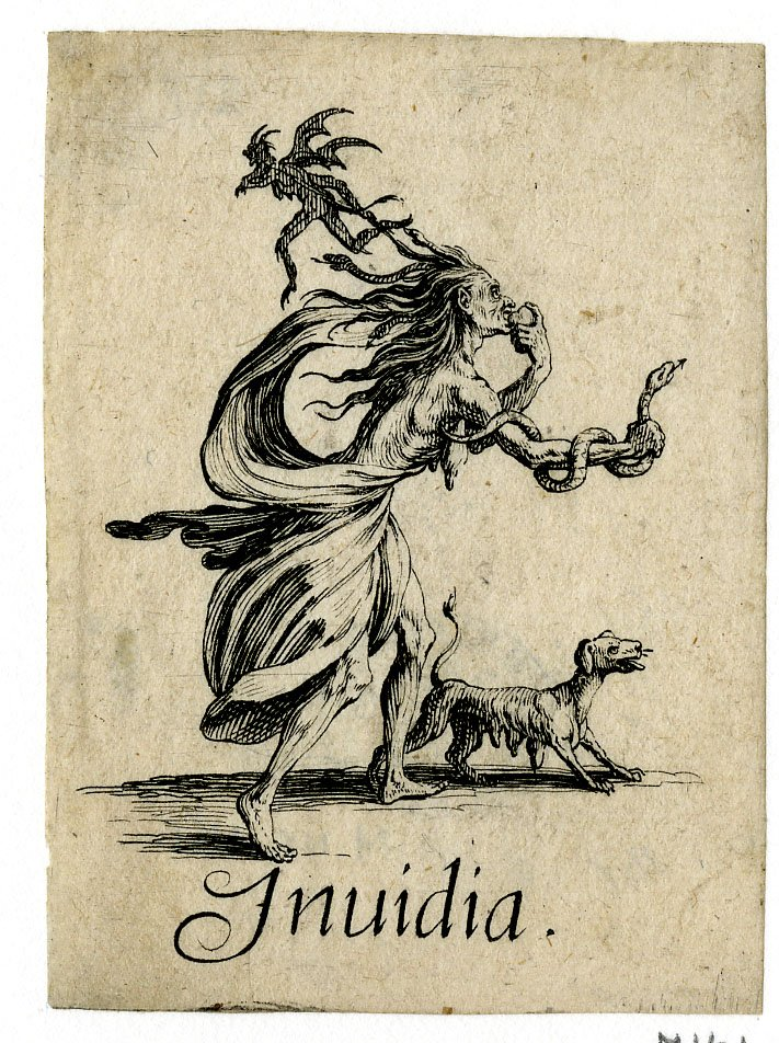 Jacques Callot, 1618-1625, Invidia, Deadly Sins, British Museum