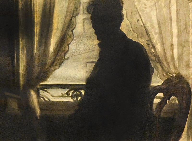 Léon Spilliaert, 1907, Silhouet van de schilder