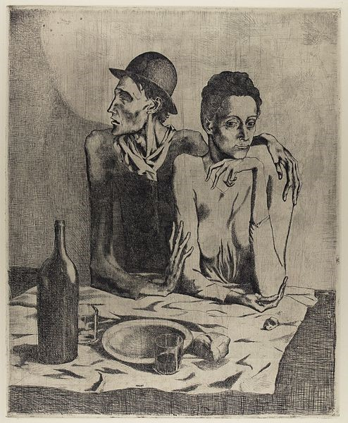 Pablo Picasso, 1904, The Frugal Repast. The Met. © 2018 Estate of Pablo Picasso / Artists Rights Society (ARS), New York