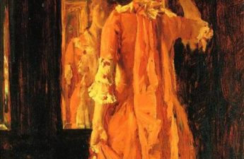William Merritt Chase, c.1887, Young Woman Before a Mirror