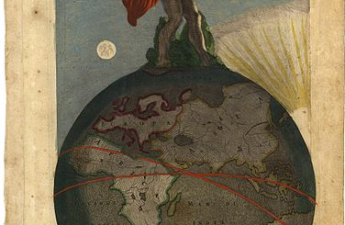 Frederick de Wit, 17th century, Atlas Standing on Earth, Holding up the Heavens