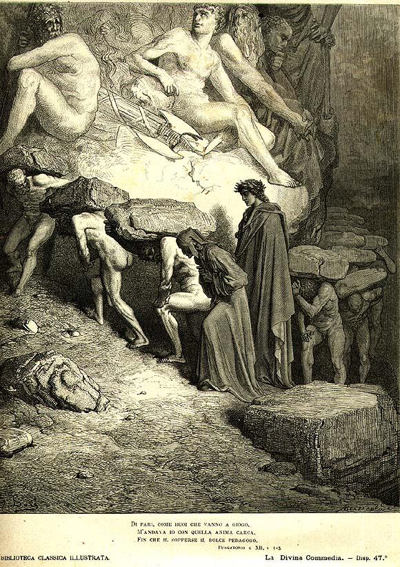 Gustav Dore, 1868, The Divine Comedy, Purgatory, Canto 11