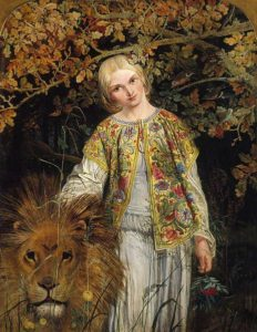 William Bell Scott, 1860, Una and the Lion
