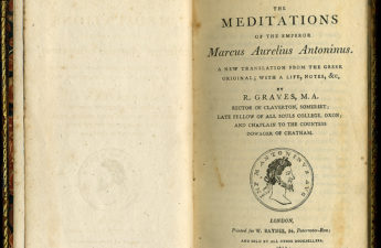 Meditations, first page of the 1792 English translation by Richard Graves