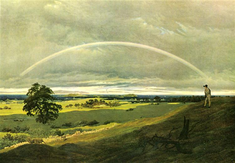 Caspar David Friedrich, 1810, Landschaft mit Regenbogen