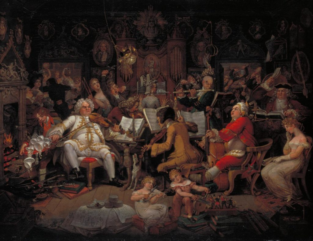Edward Francis Burney, 1820, Amateurs of Tye-Wig Music, Tate Collection