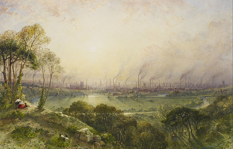 William Wyld, 1852, A View of Manchester from Kersal Moor