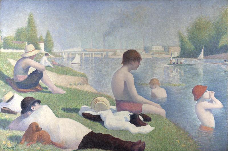 Georges Seurat, 1884, Bathers at Asnières