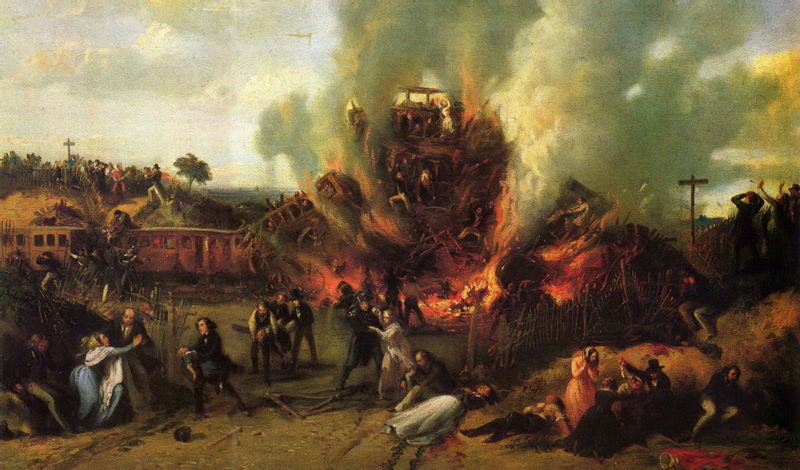 A. Provost, 1842 and 1855, Disaster on the Railway between Versailles and Bellevue, 8th May 1842