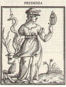 Cesare Ripa, 1603, Prudence, Iconologia