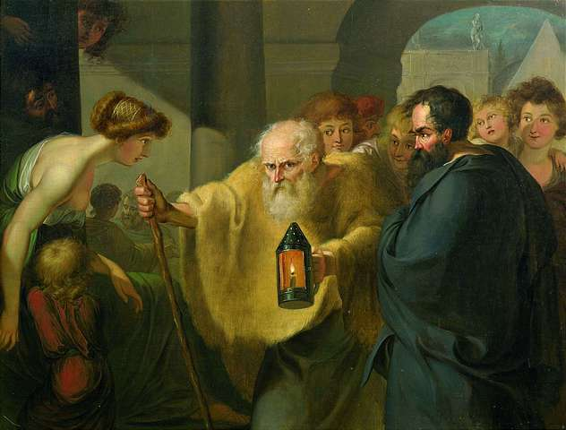 Attributed to J. H. W. Tischbein, 1780, Diogenes Searching for an Honest Man