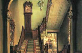 Edward Lamson Henry, 1868, The Old Clock on the Stairs
