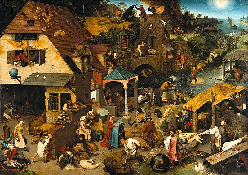 Pieter Bruegel, 1559, Netherlandish Proverbs