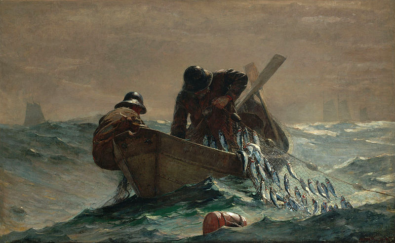 Winslow Homer, 1885, The Herring Net
