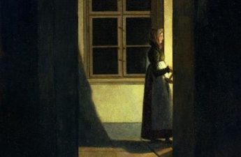 Caspar David Friedrich, 1825, Woman with a candlestick