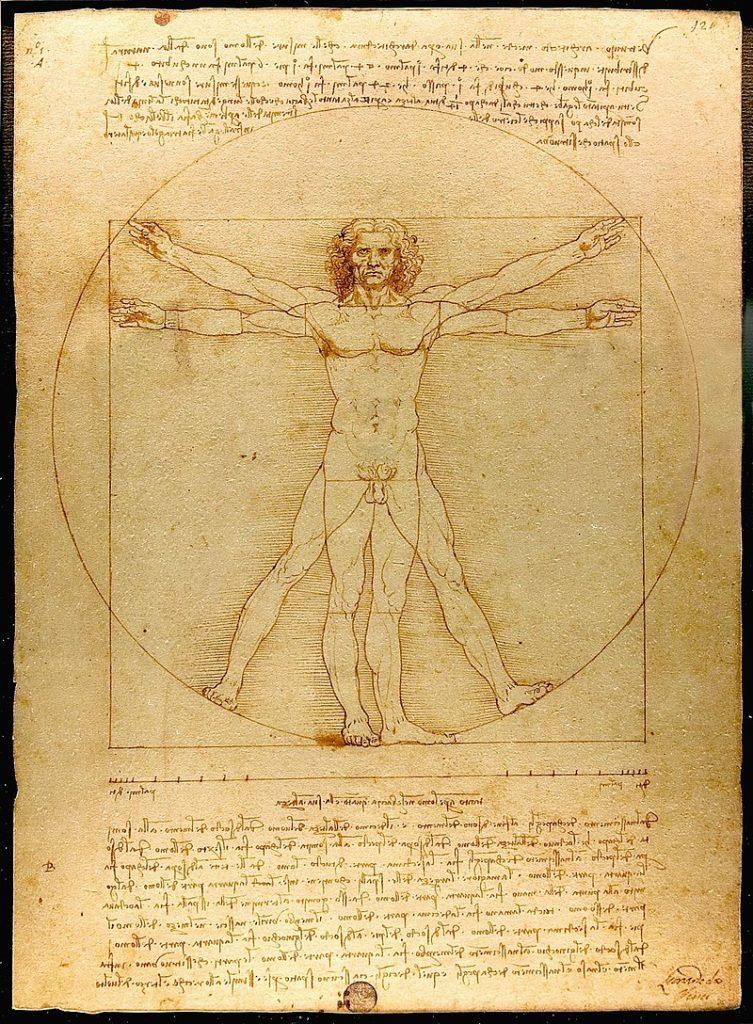 Leonardo da Vinci, 1490, Vitruvian Man