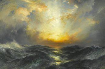Thomas Moran, 1906, Sunset at Sea