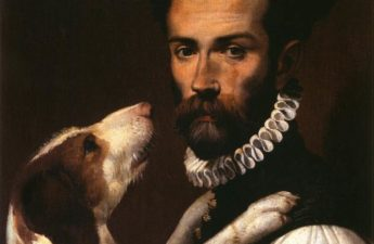 Bartolomeo Passarotti, Portrait of a Man with a Dog, 1585, Musei Capitolin