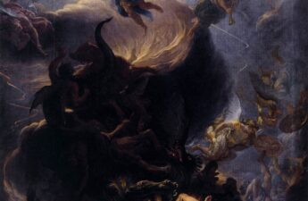 Charles Le Brun, The Fall of the Rebel Angels, mid 1680's