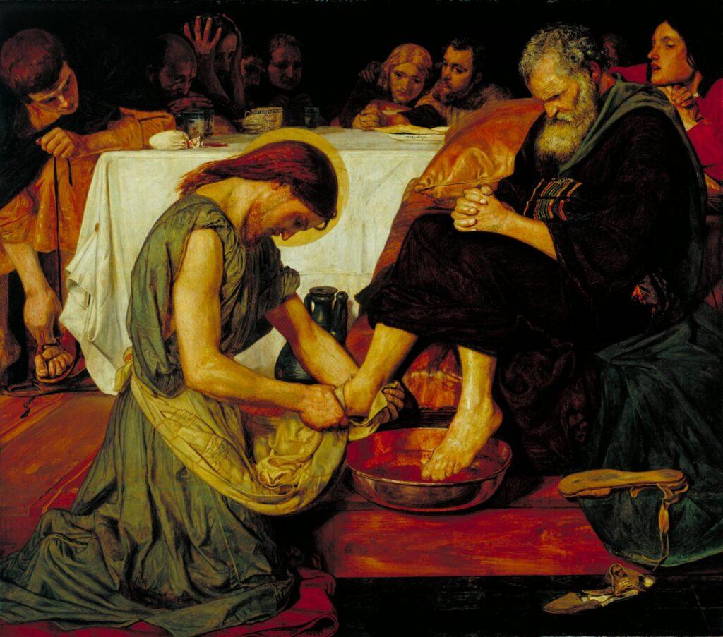 Ford Madox Brown, 1852-6, Jesus Washing Peter's Feet